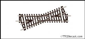 Peco ST-50 Crossing, Right Hand, 22.5°angle, Insulfrog - N Gauge